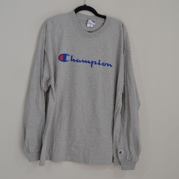 b5013acc6 Champion Shirts | Vintage Long Sleeve Spell Out Shirt Xl | Poshmark